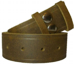 38mm Velvet Chestnut Distressed Snap Fit Leather Belt